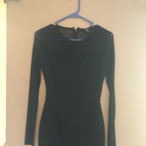 Long sleeve black dress. Excellent condition